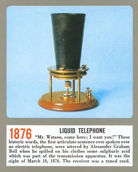 Liquid telephone