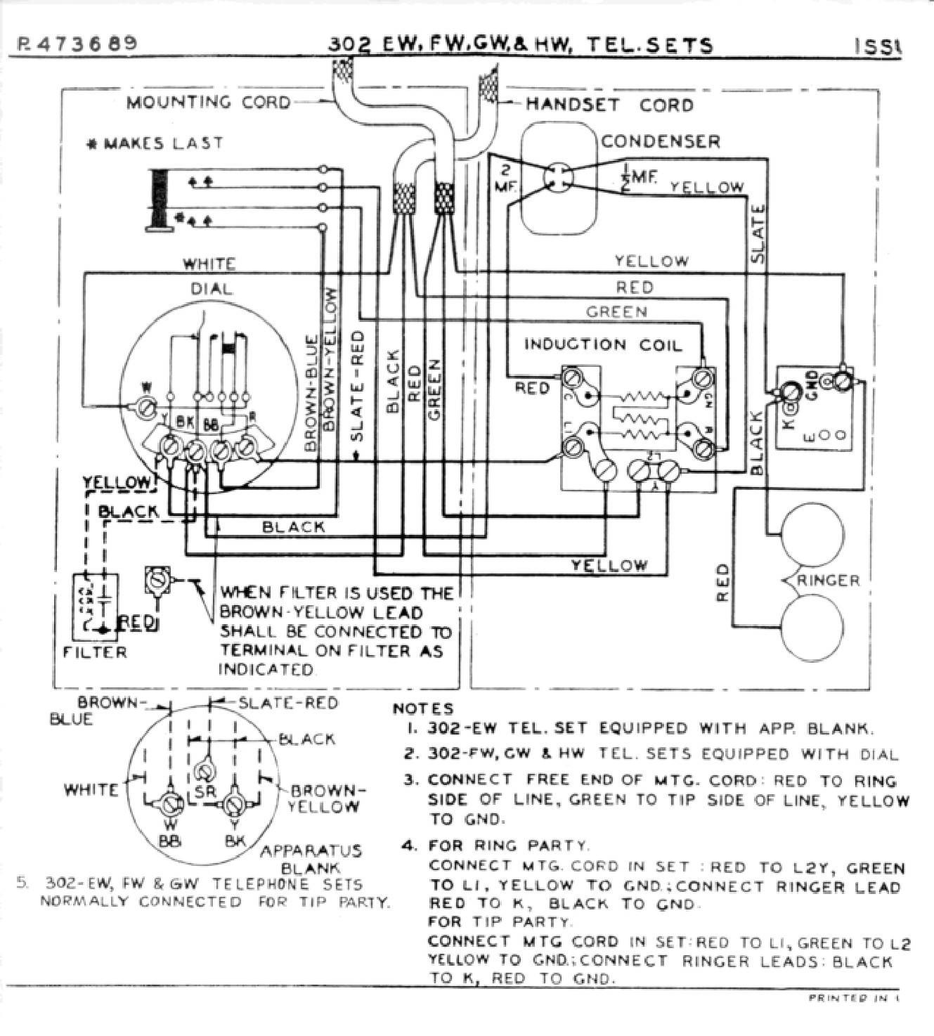 Western Electric Products Telephones Older Models Than The 500 Cat 5 Cable Wiring Diagram Furthermore Telephone Phone Line Model 302 E Hw